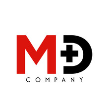 Md Cross Logo Design Vector