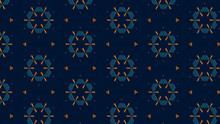 Abstract Decorative Geometric Kaleidoscope Texture Background