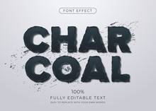 Eroded 3d Charcoal Text Effect. Editable Font Style