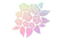 バラの花束、シルエッ...