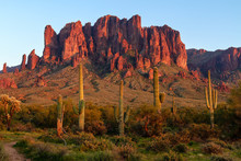 The Superstition Mountains At ...