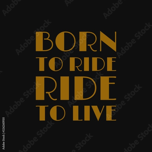 Born to ride ride to live Canvas Print