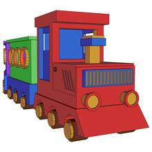 Suburban Train Wagon Icon Over...