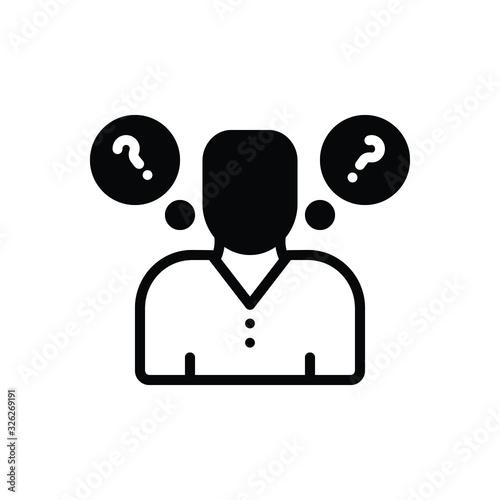 Obraz na płótnie Black solid icon for think