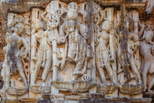 Ancient Stone Sculptures On Te...