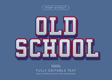 College Text Effect. Editable Font Style