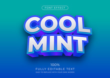 Modern 3d Extrude Text Effect. Editable Font Style