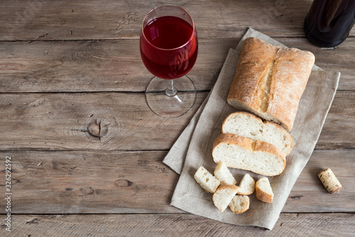 Fotografia Bread and Wine