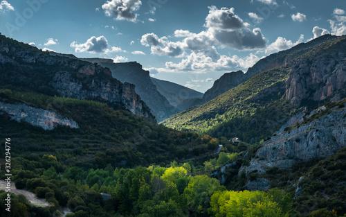 Photo Paisaje del valle de Alos de Balaguer (Cataluña, España).