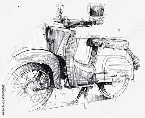 Old Motorbike Canvas Print