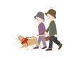 犬の散歩 老夫婦