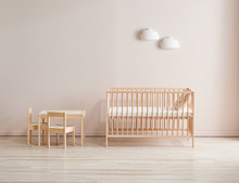 Modern Wooden Crib And Baby Ro...