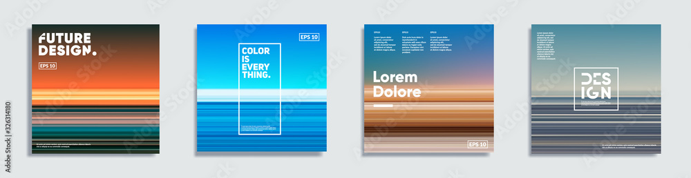 Fototapeta Abstract covers with creative gradients. Eps10 vector.