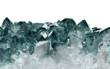 canvas print picture - isolated dark cyan quartz crystals