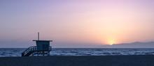 Sunset On The Beach In Califor...