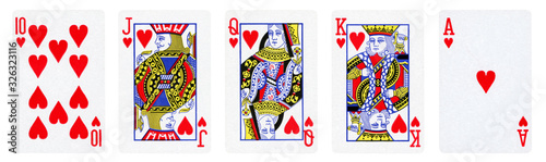 cards, card, queen, poker, style, king, vector, illustration, black, hearts, bac Fototapete