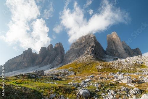Tre cime di Lavaredo, Dolomiti Wallpaper Mural