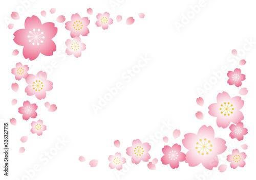 桜フレーム【白背景】