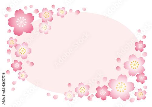 桜フレーム【楕円ピンク】