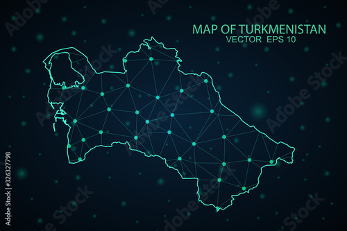 Photo Map of Turkmenistan