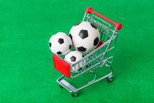 Soccer Balls In Shopping Cart ...