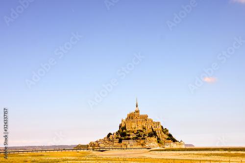 Obraz na plátně Le Mont Saint-Michel tidal island Normandy northern France