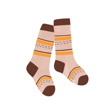 Striped Autumn Warm Socks Vect...
