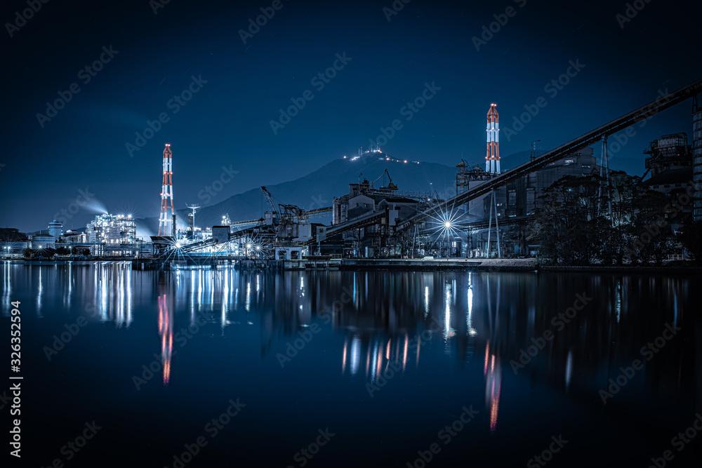 Fototapeta 北九州市 洞海湾 工場夜景
