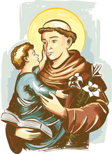 Saint Anthony Of Padua Or Sain...