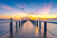 Perspective Bridge Sunset