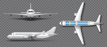 Realistic White Airplane, Airl...