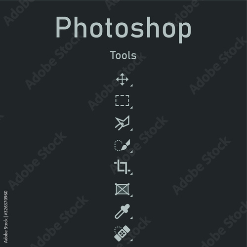 photoshop tools Canvas Print