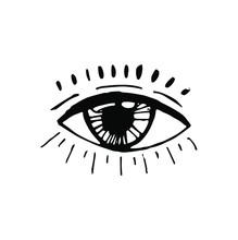 All Seeing Eye Symbol. Blackwork Tattoo Flash. Eye Of Providence, Masonic Symbol. All Seeing Eye. New World Order. Sacred Geometry, Religion, Spirituality, Occultism. Isolated