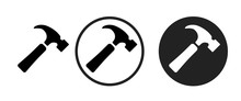 Hammer Icon . Web Icon Set .ve...