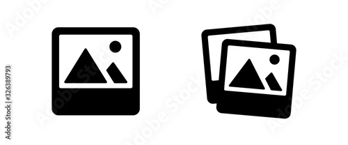 Fotografía image icon . web icon set .vector illustration