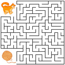 Square Maze For Kids With Cart...