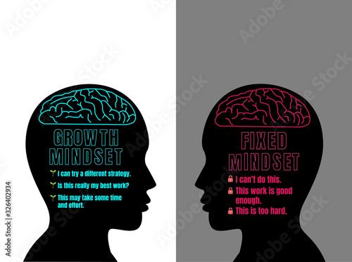 Human head with brain inside Fototapeta