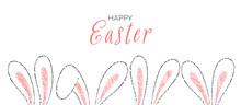 Draw Outline Rabbit Ears In Ho...