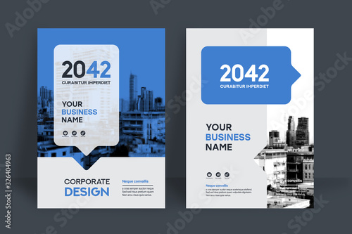 Fotografía City Background Business Book Cover Design Template