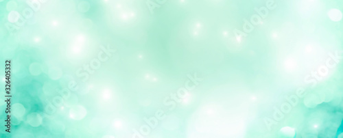Abstract Christmas background banner - pastel background with bokeh lights