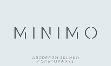 Minimo. The Minimal Alphabet. ...