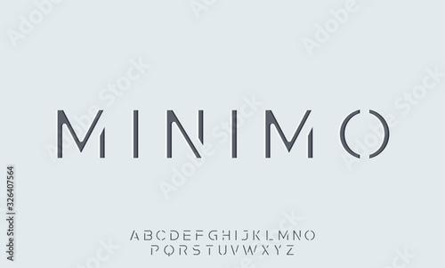 Obraz minimo. the minimal alphabet. display font vector typeset - fototapety do salonu