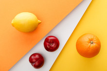 Top View Of Citrus Fruits And ...