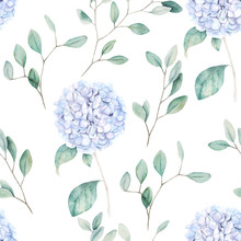 Watercolor Seamless Pattern. V...