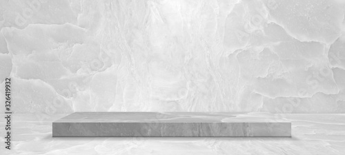Fotografia Product stage on marble background