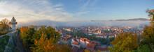 Cityscape Of Graz And The Famo...