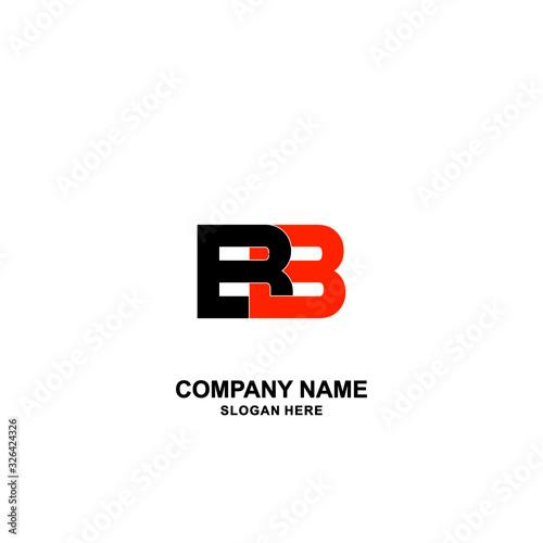 BB Initial logo template vector Canvas Print