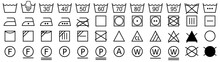 Washing Symbols Set. Laundry Icons. Vector Illustration