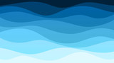 Vector abstract deep blue wave banner background illustration