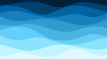 Vector Abstract Deep Blue Wave...